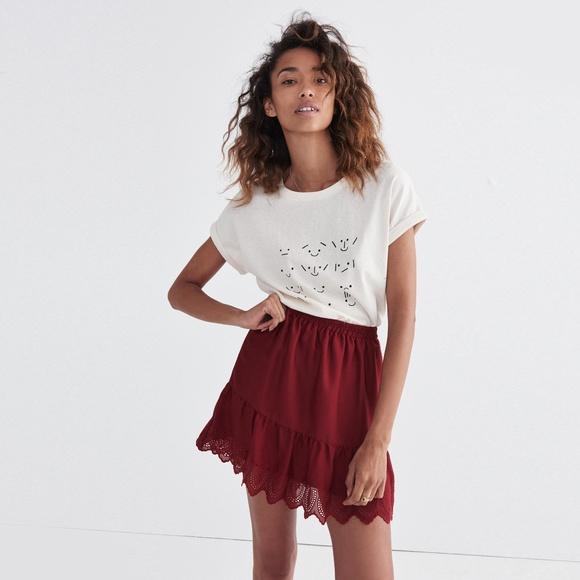 """Madewell Dresses & Skirts - Madewell """"Duskaway"""" Eyelet Skirt NWT"""